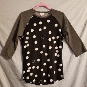 Women's lularoe Randy Baseball Tee Shirt Sz Small